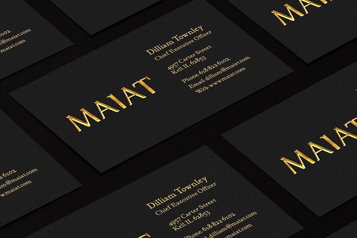 Golden Business Card example image 3