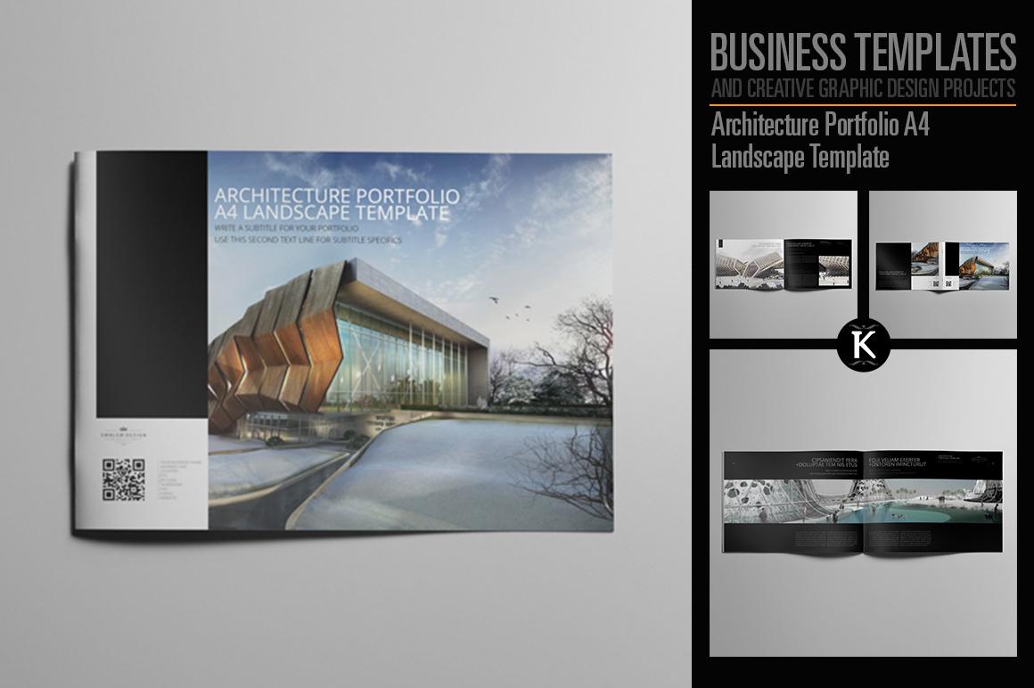 Architecture Portfolio A4 Landscape Template example image 1