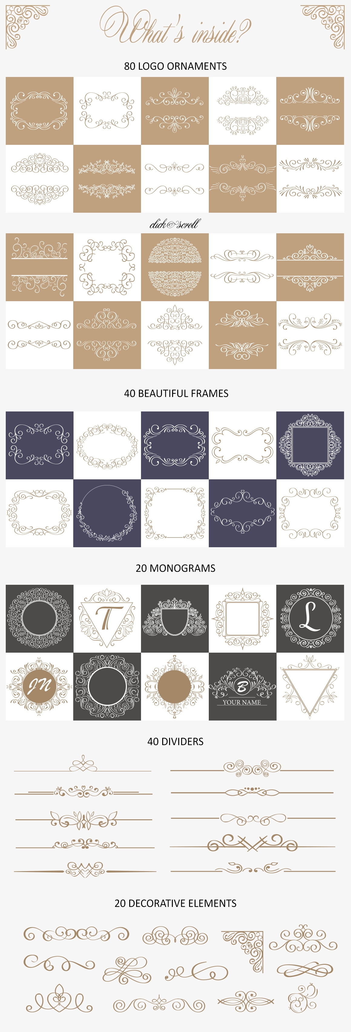 Ornate Bundle. Over 200 frames and dividers example image 3