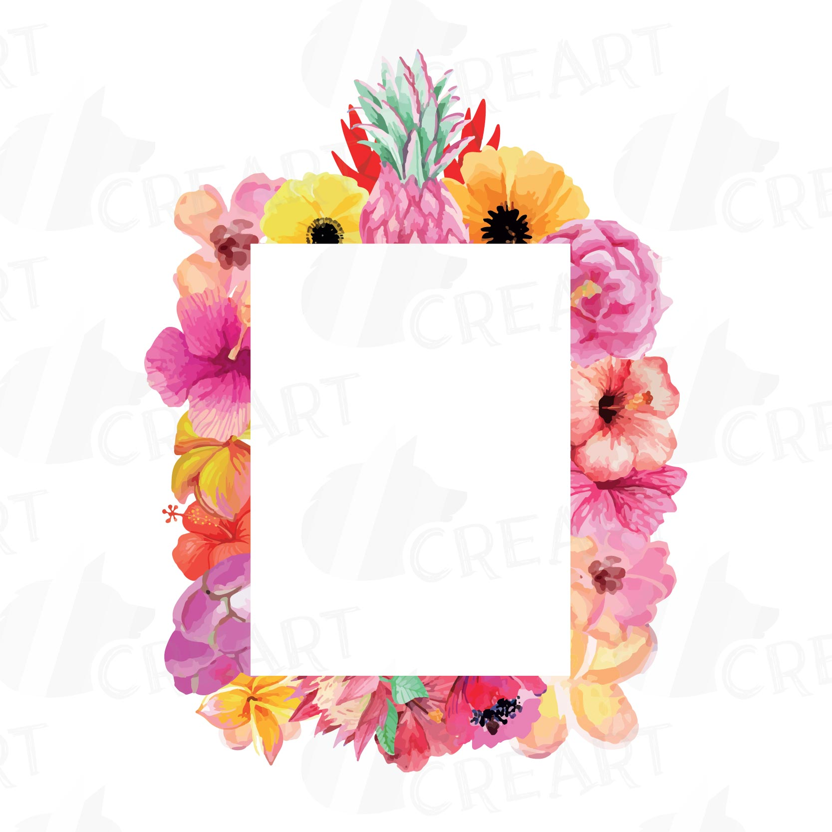 floral frames watercolor clip art colle design bundles rh designbundles net clipart frames and borders free clip art frames and borders free