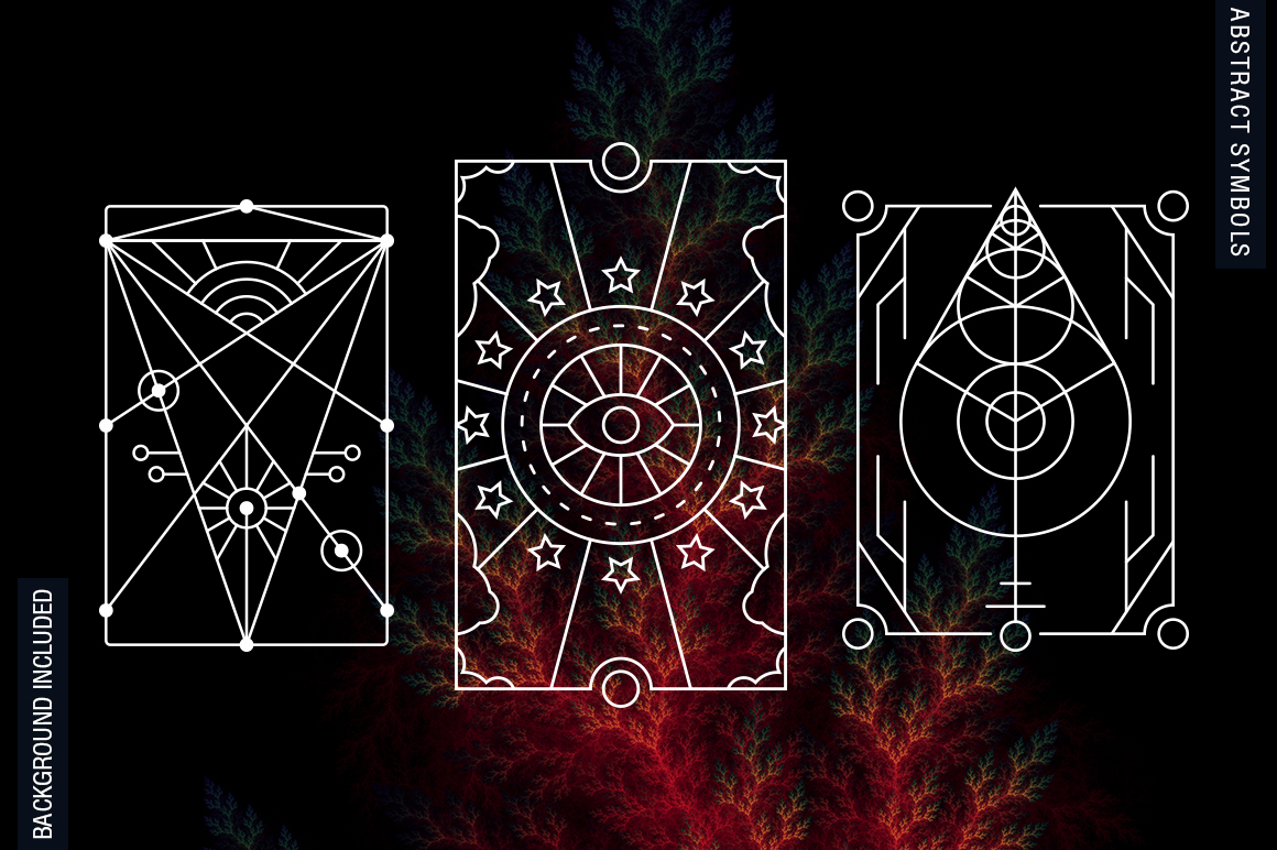 100 Sacred Geometry Symbols  example image 21