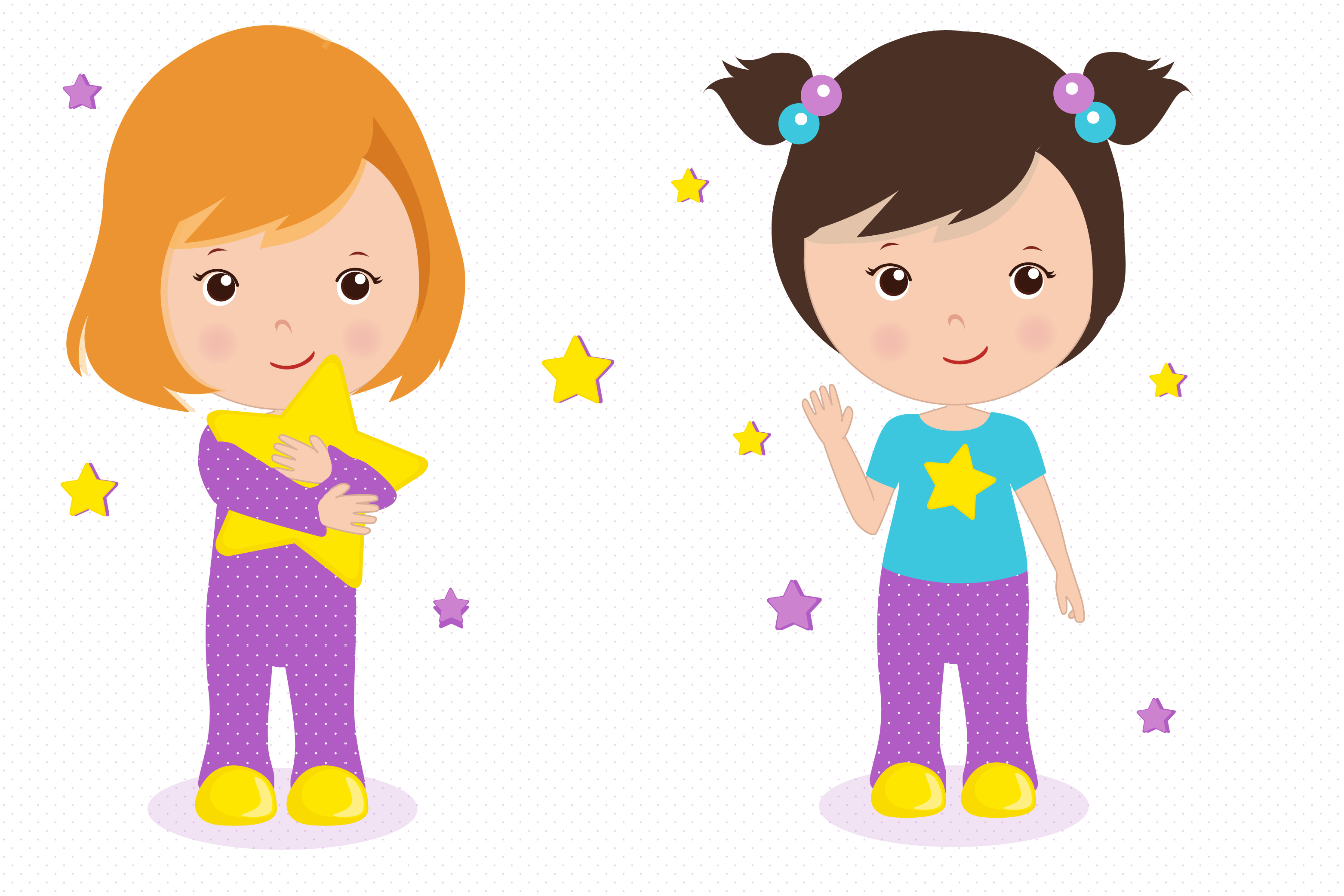 sleepover graphics little girls clipar design bundles rh designbundles net girl clipart png girl clipart png