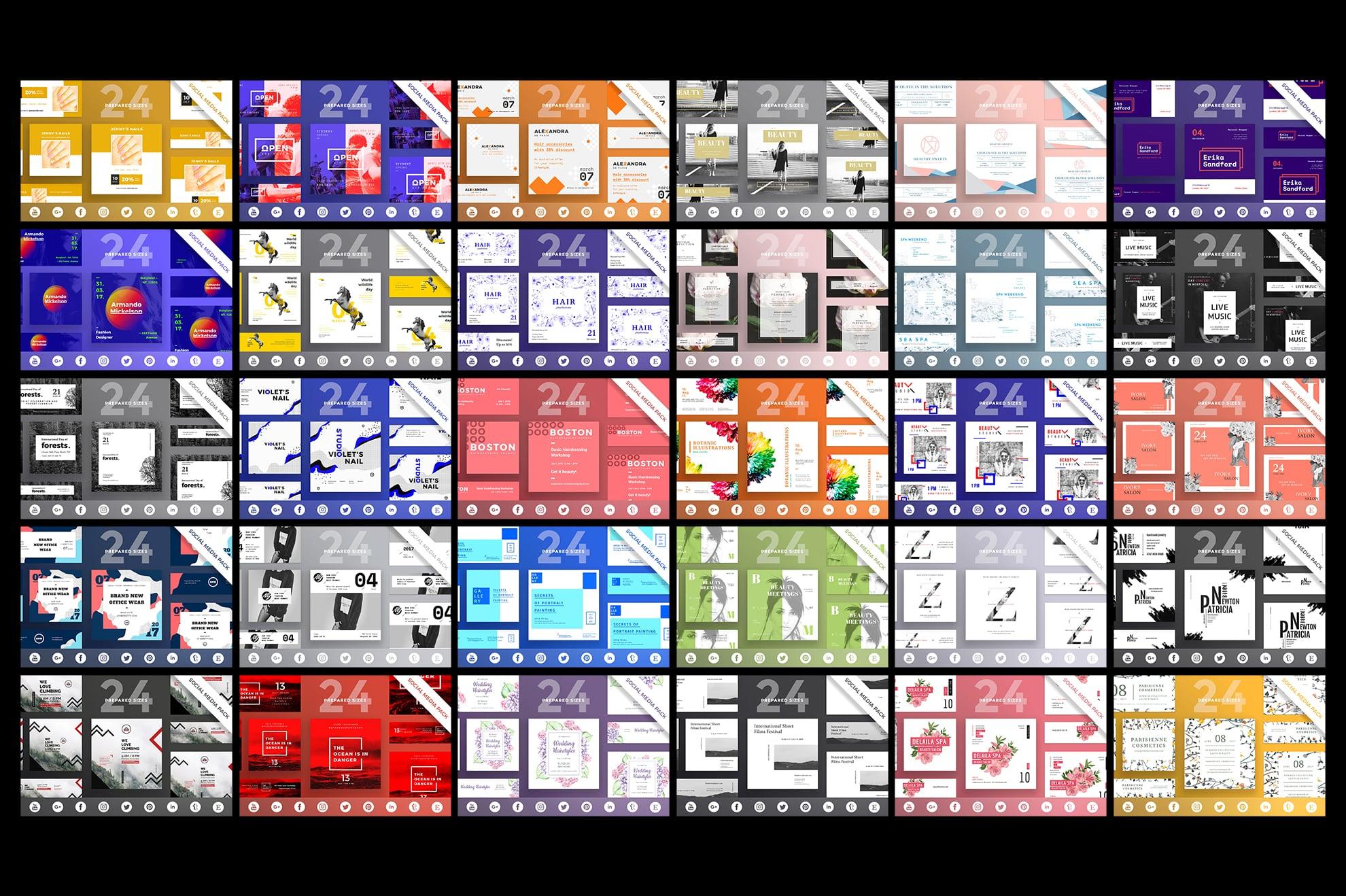 Social Media Cover & Post Design Templates Bundle SALE example image 5