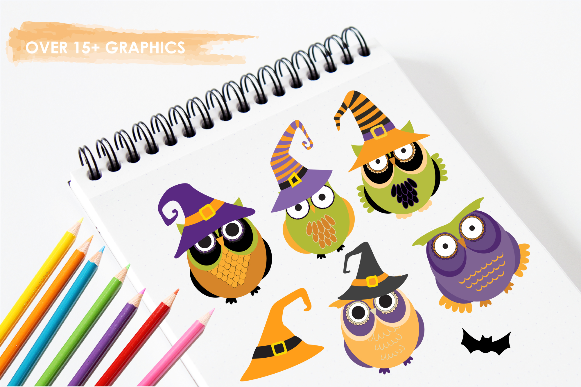 Halloween Owls graphics and illustrations example image 3