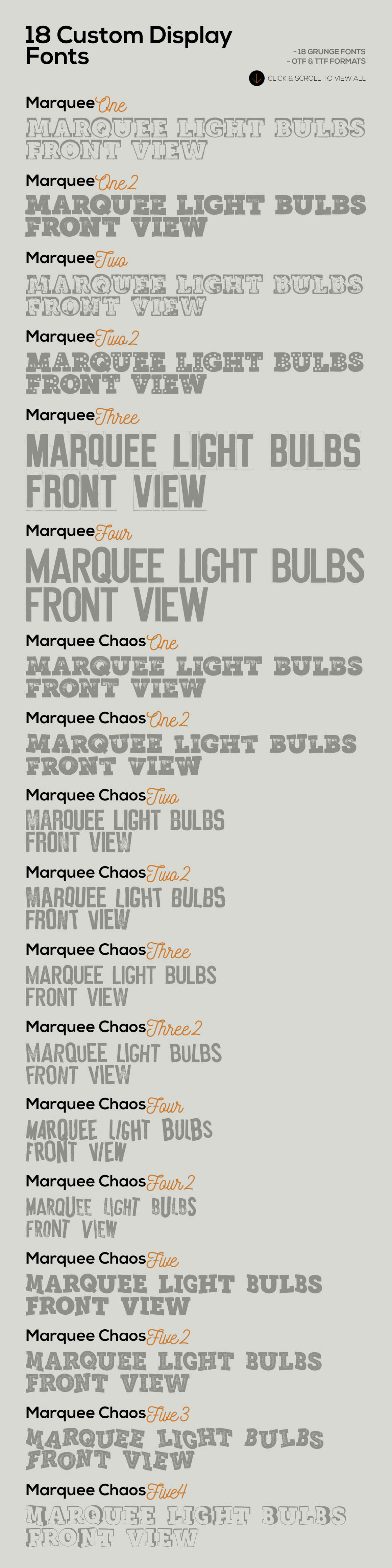 Marquee - 18 Grunge Fonts example image 5