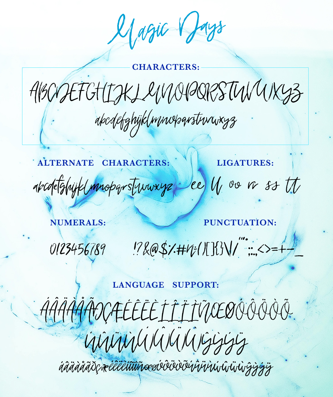 Magic Days Hand Drawn Font example image 10