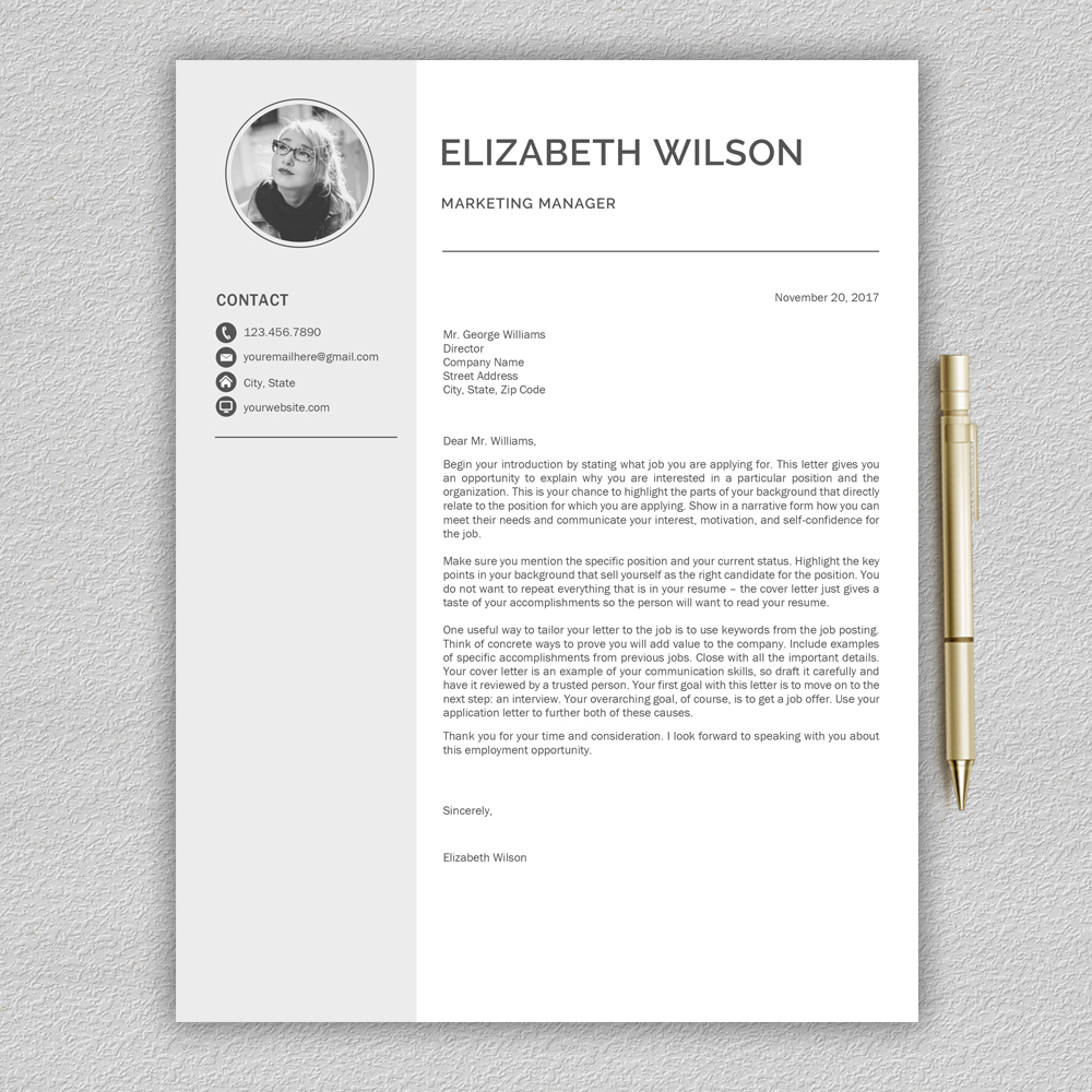 Creative Resume Template Cv Template  Design Bundles