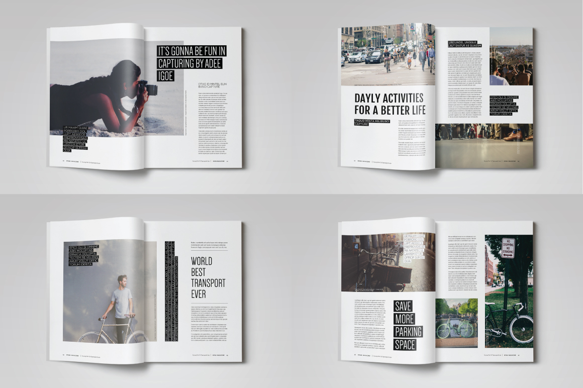 Indesign Magazine Template by banks | Design Bundles
