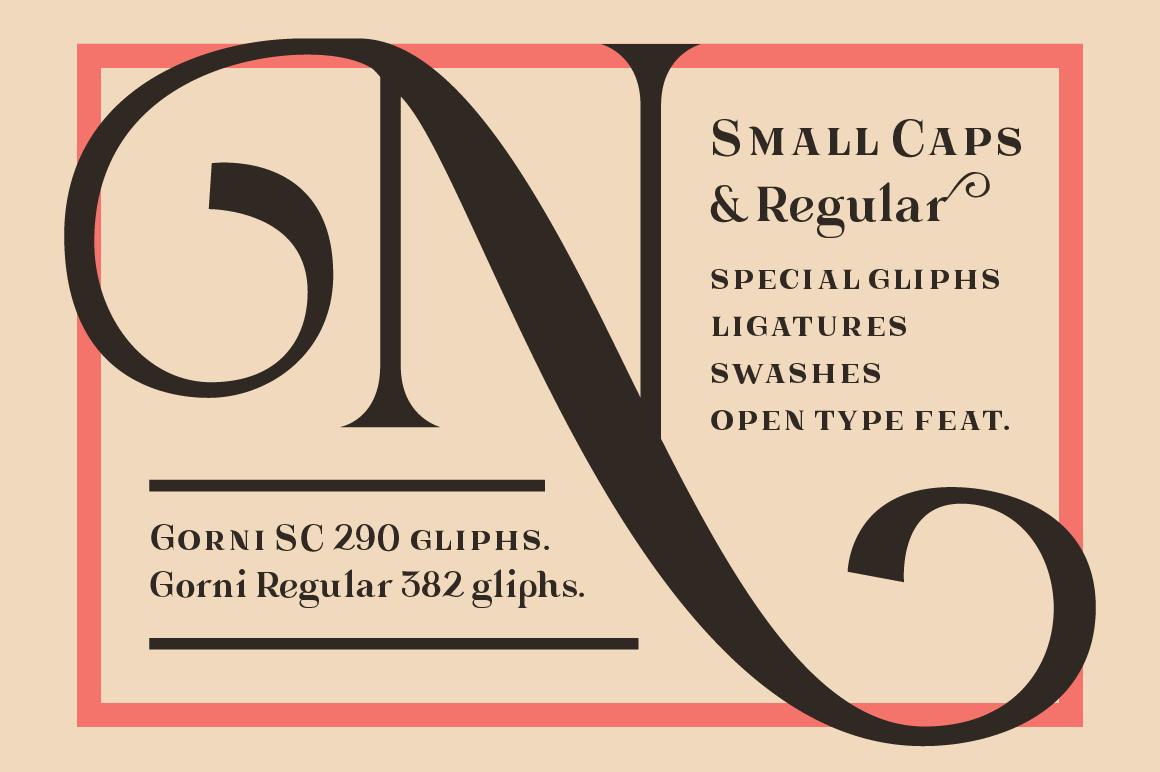 Gorni Typeface example image 2
