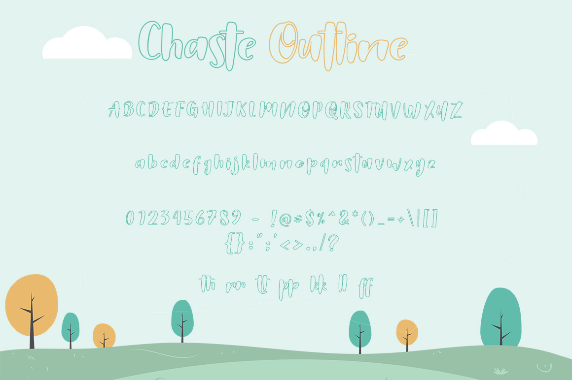 Chaste Display 3 Font example image 3