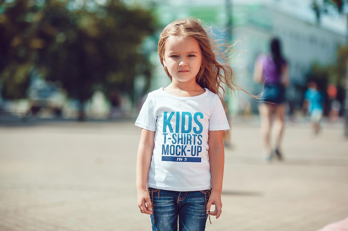 Kids T-Shirt Mock-Up Vol 3 example image 8