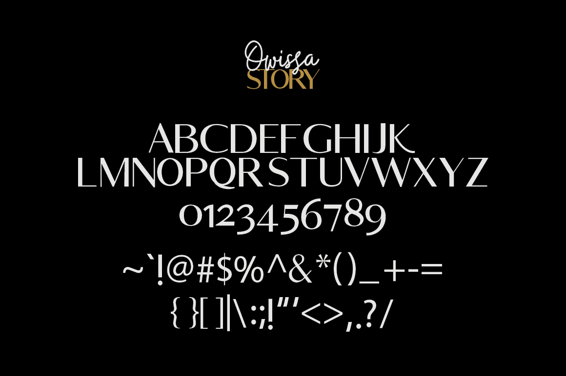 Owissa Story - Font Duo example image 8