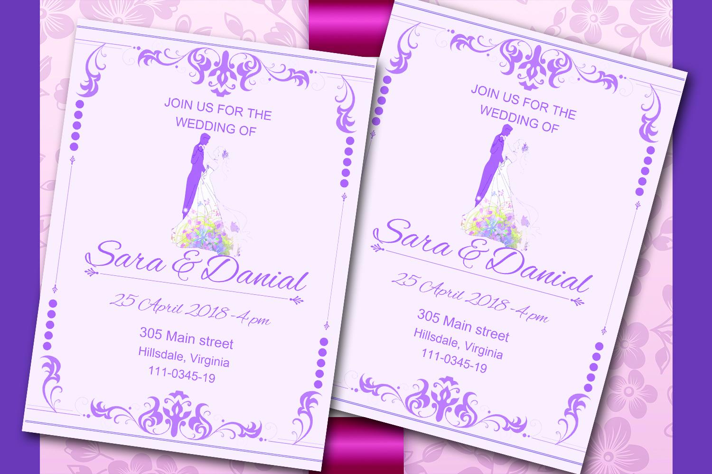 Elegant wedding invitation card by Mast   Design Bundles