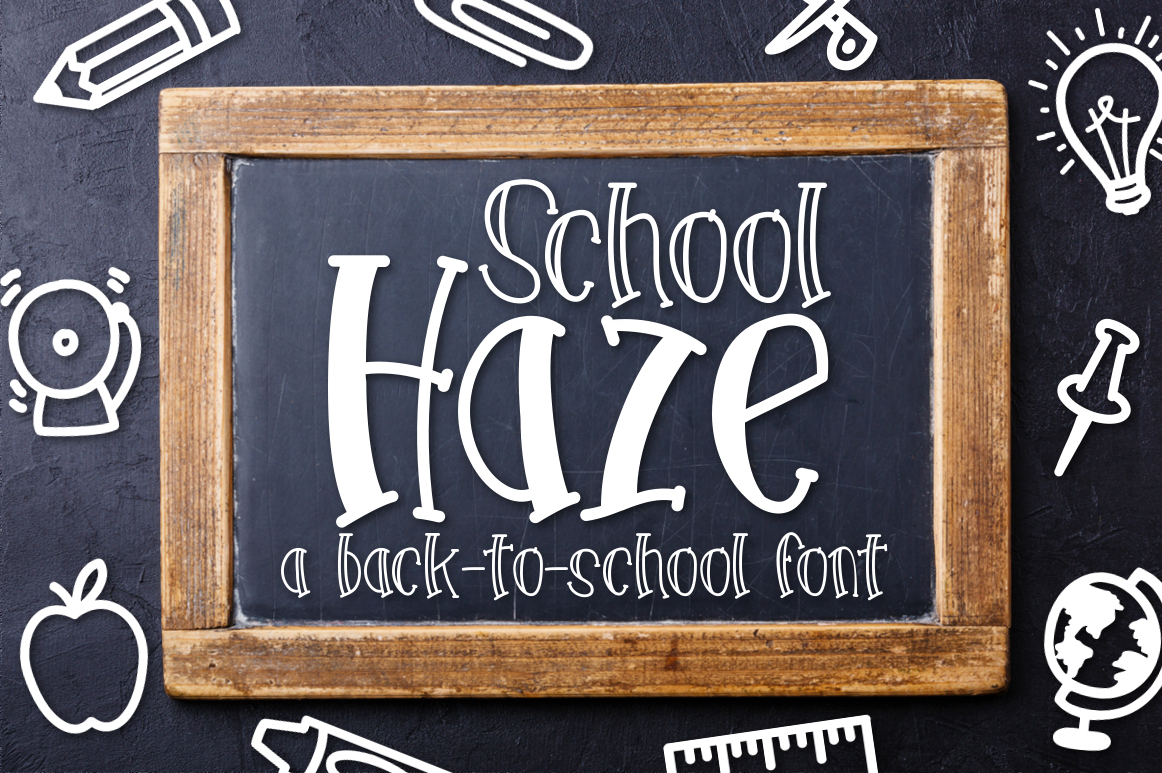 School Haze a Back-to-School Font example image 1