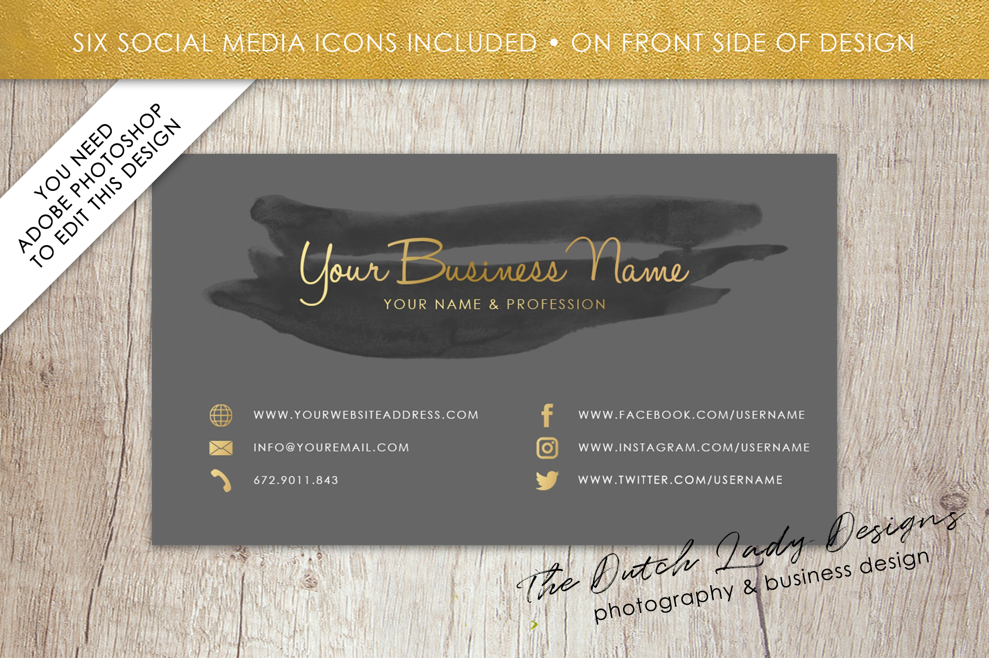 Business card template for adobe photos design bundles business card template for adobe photoshop layered psd template design 10 example image reheart Images