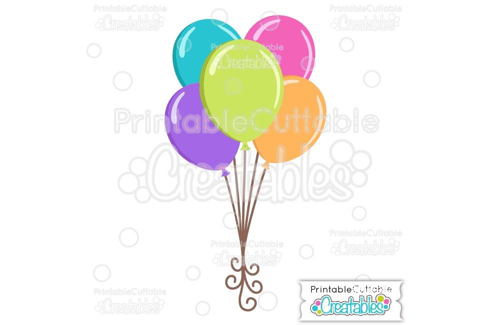 Birthday Balloons SVG Cut File & Clipart