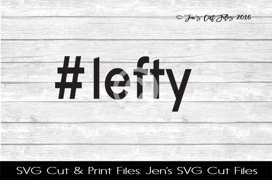 Lefty Hastag SVG Cut File example image 1