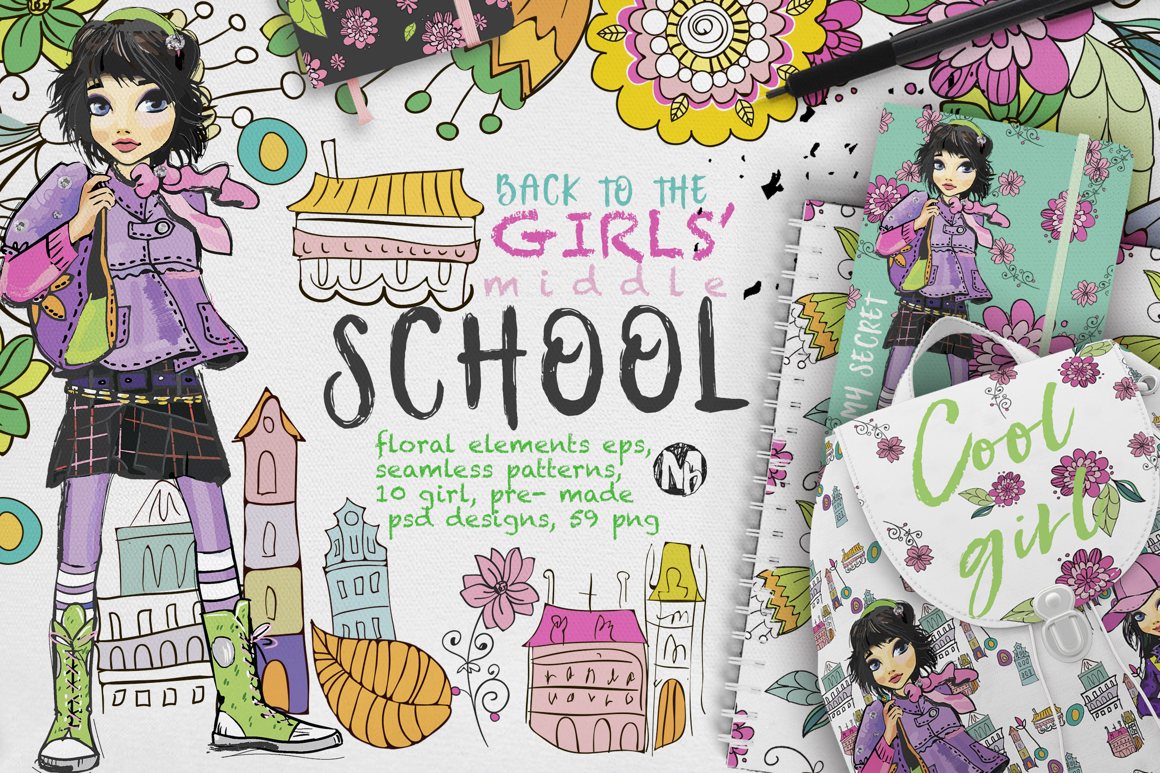 BACK TO THE GIRLS' MIDDLE SCHOOL example image 1