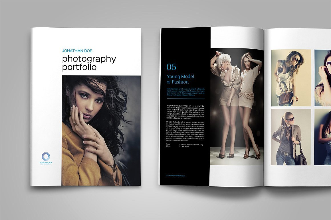Photography Portfolio Template By Tujuh Design Bundles - Photography portfolio template
