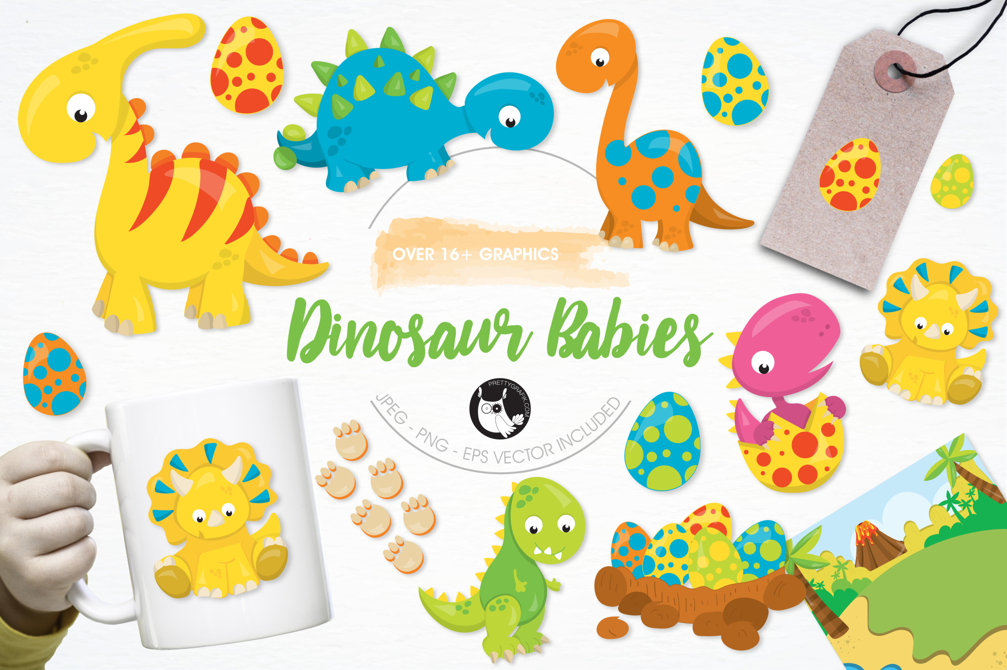 Dinosaur Babies graphics and illustrations example image 1