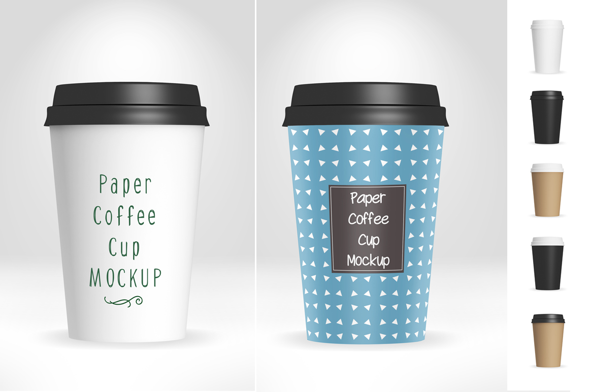 Paper Coffee Cup Mockup V1 example image 1