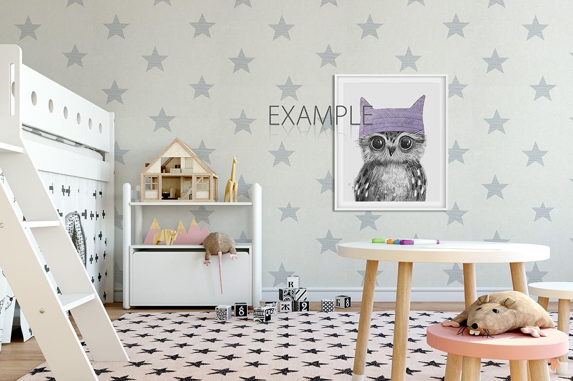 KIDS WALL & FRAMES Mockup Bundle - 2 example image 9
