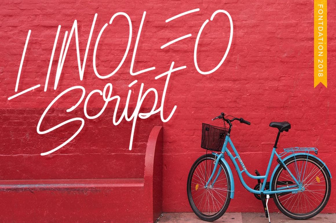 3 in 1 Monoline Script Font example image 9