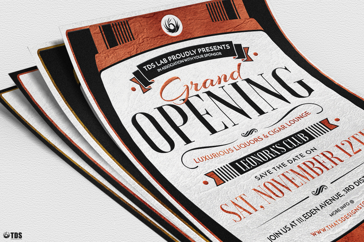 Grand Opening Flyer Template example image 6