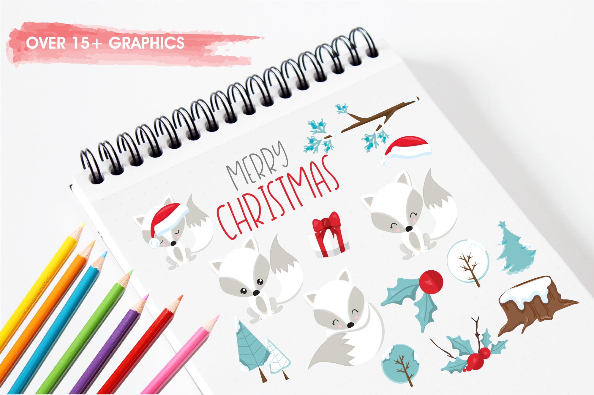 Winterland Fox graphics and illustrations example image 3