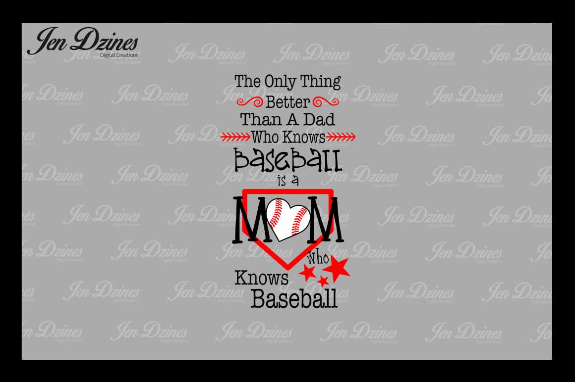 Baseball Bundle SCG DXF EPS PNG example image 3