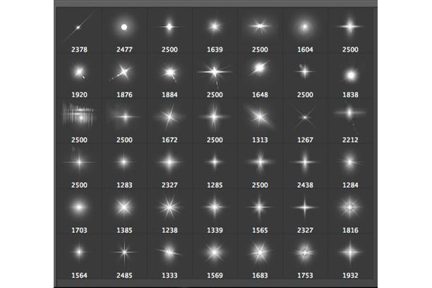 Lens Flare & Stars Photoshop Brushes example image 2