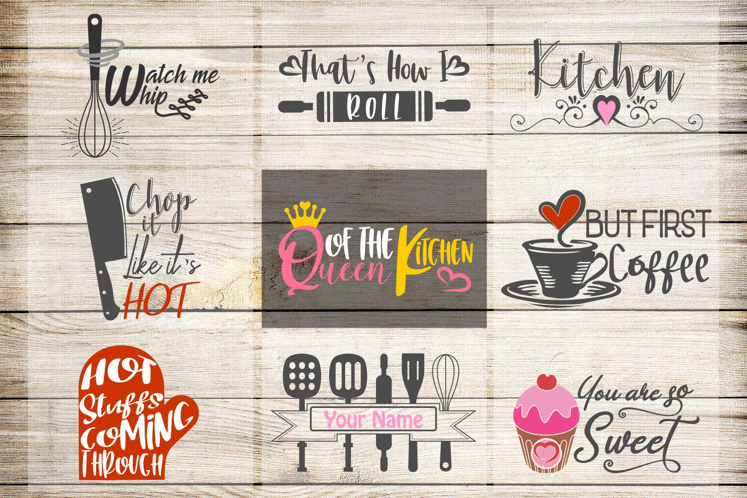 kitchen svg, VOL2, kitchen bundle, kitchen clipart, kitchen example image 1