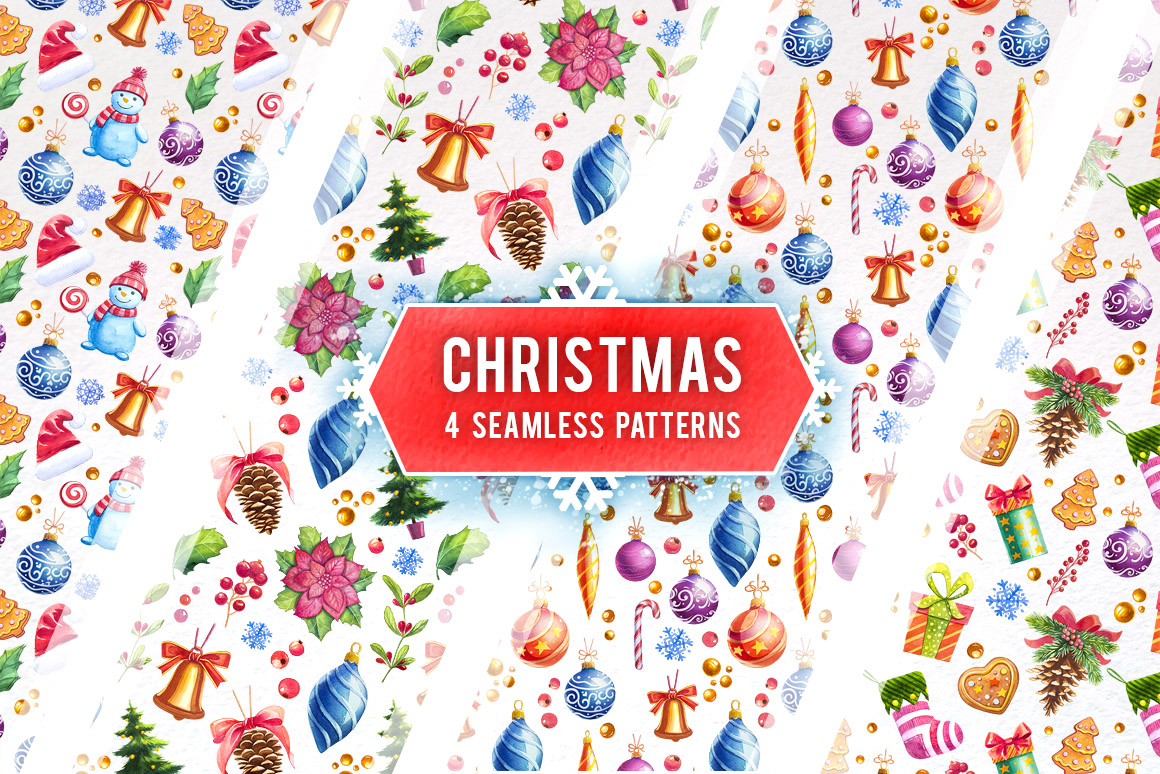 Christmas. Watercolor illustrations. example image 8