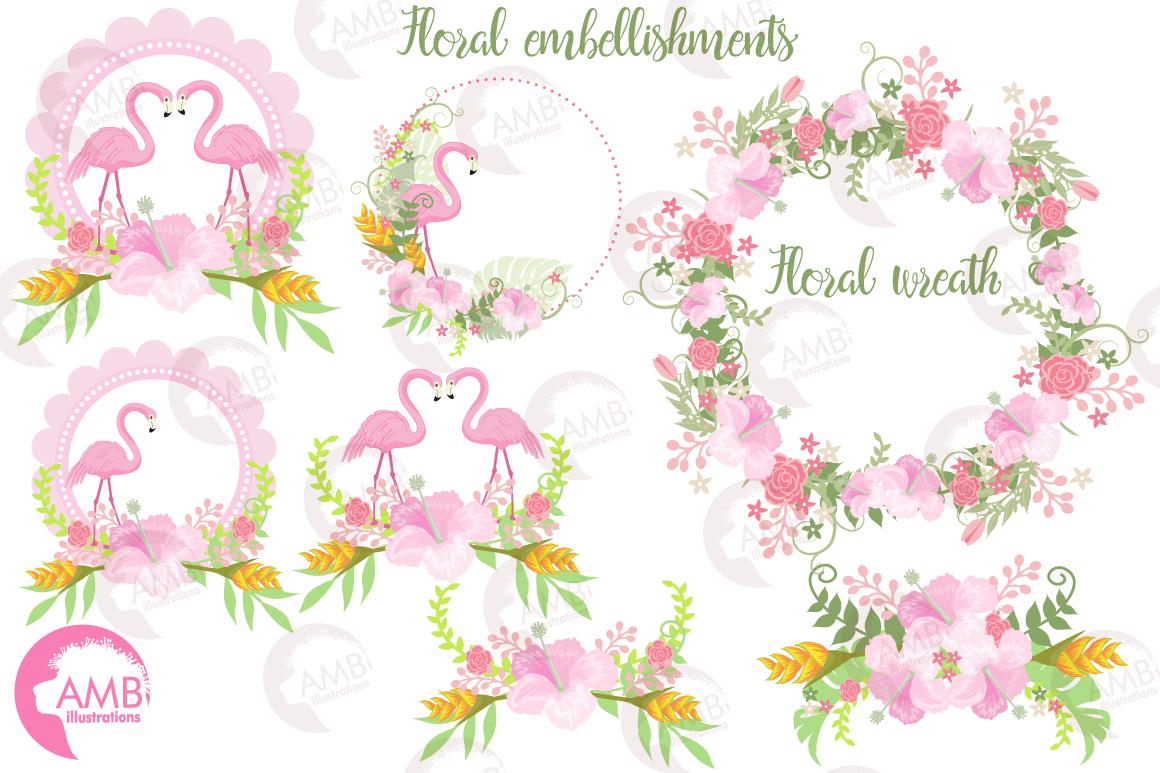 Flamingos clipart mega pack, graphics, illustrations AMB-1047 example image 7