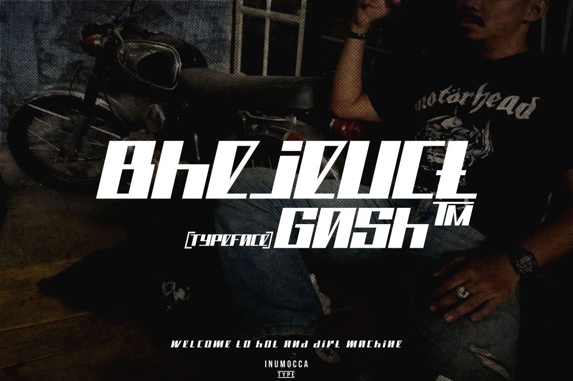 Bhejeuct gash typeface example image 1