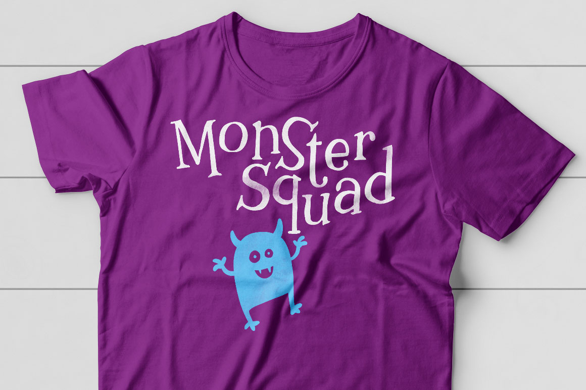 Kidlit: monster t-shirt idea mockup