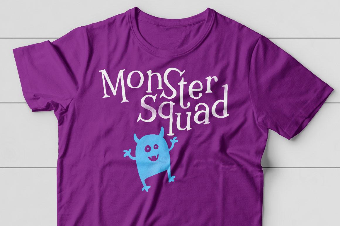 Kidlit: monster t-shirt idea mockup