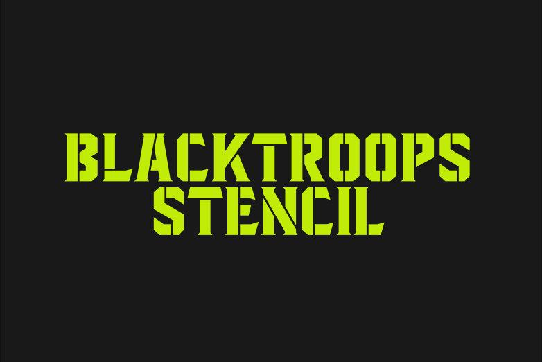 Blacktroops Stencil example image 1