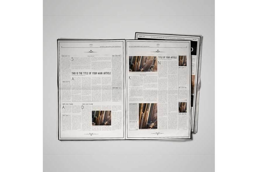 A3 Newspaper Template By Keboto Design Bundles