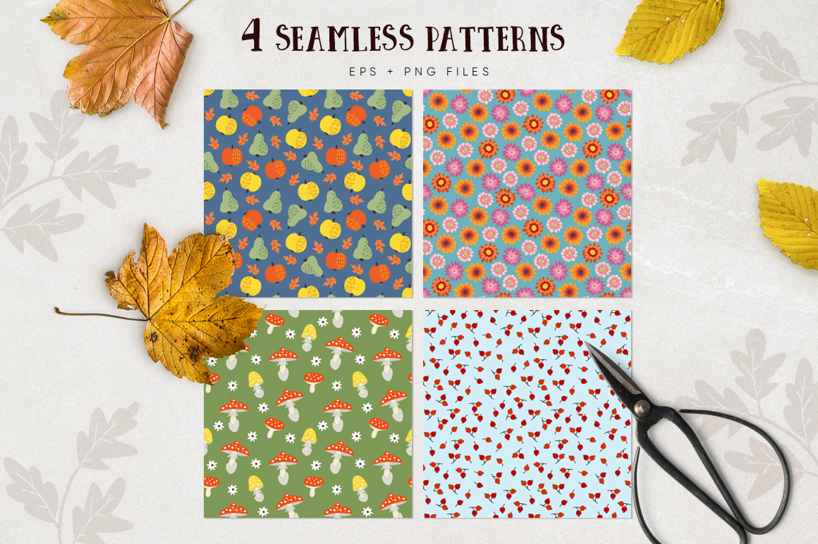 Autumn flowers graphic collection example image 10
