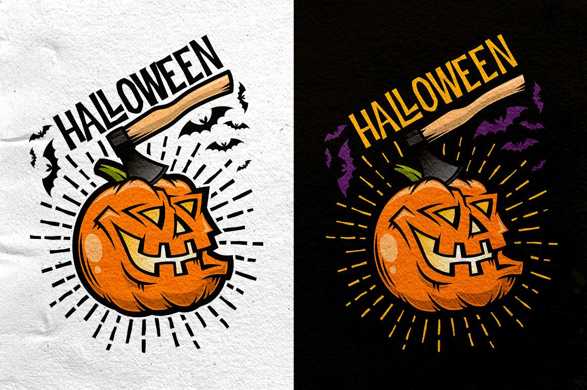 Halloween Pumking Logo Set example image 6