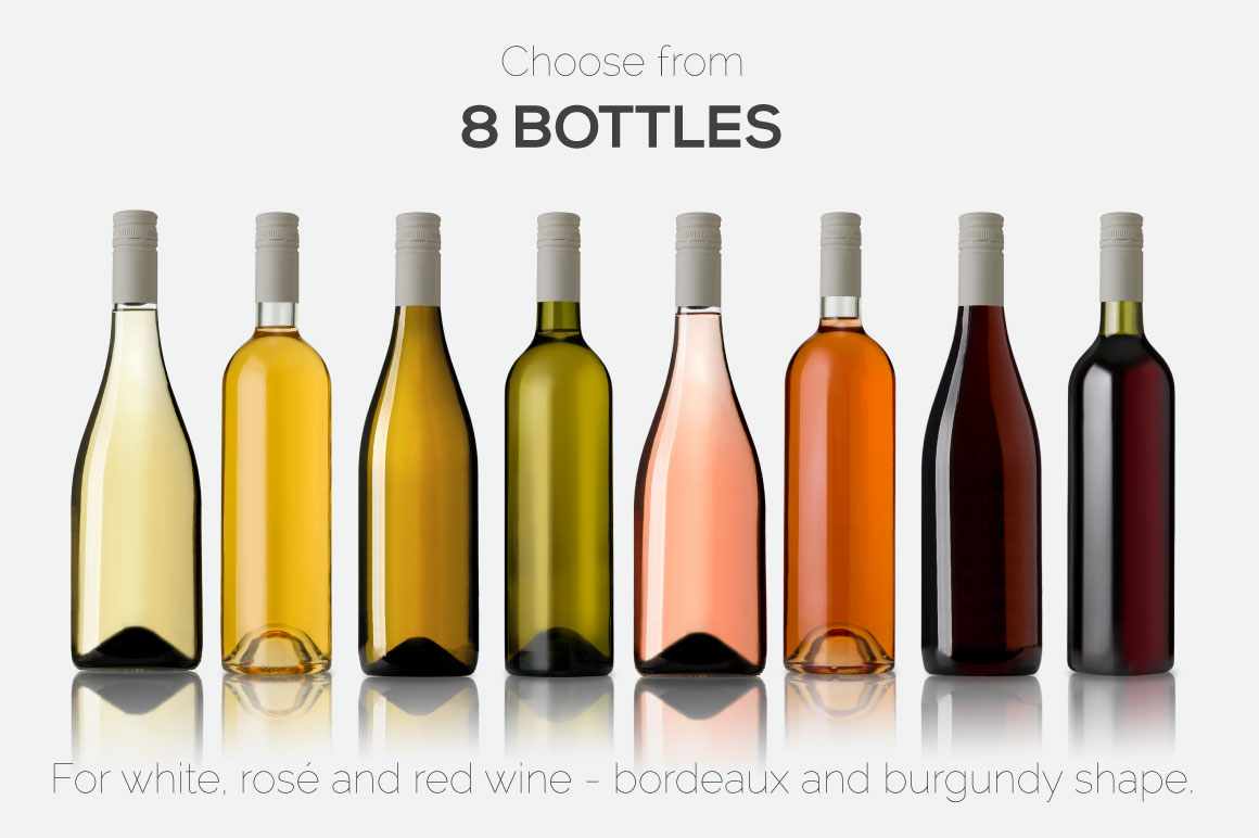 All-In-One Wine Bottle Mockup example image 12