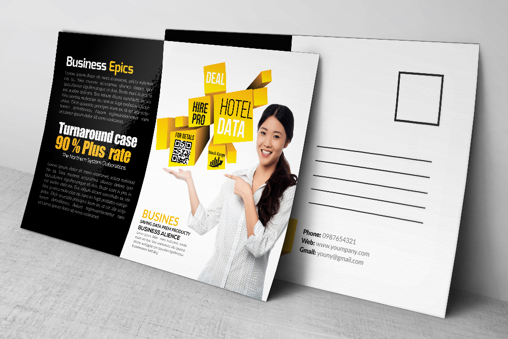 Business postcard template kubreforic business postcard template cheaphphosting Images
