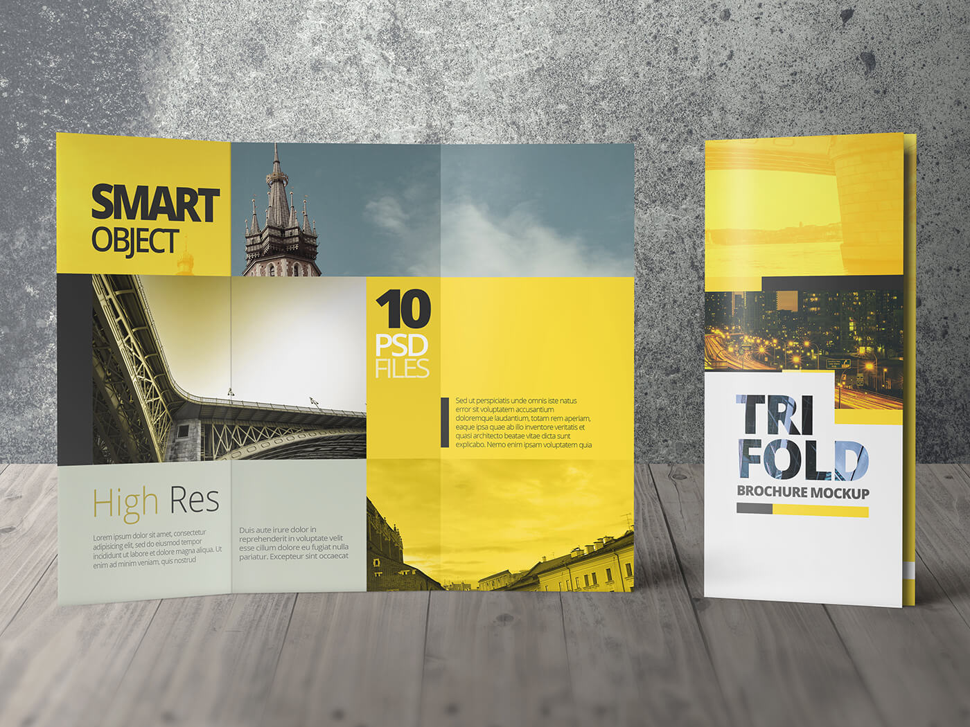 HIGH RES TRI FOLD BROCHURE MOCKUPS Example Image 4