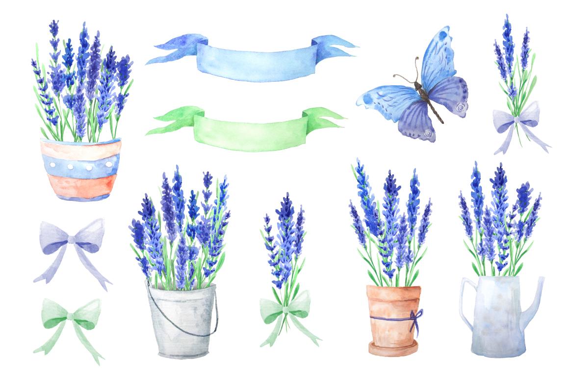Summer Watercolor Floral BUNDLE example image 13