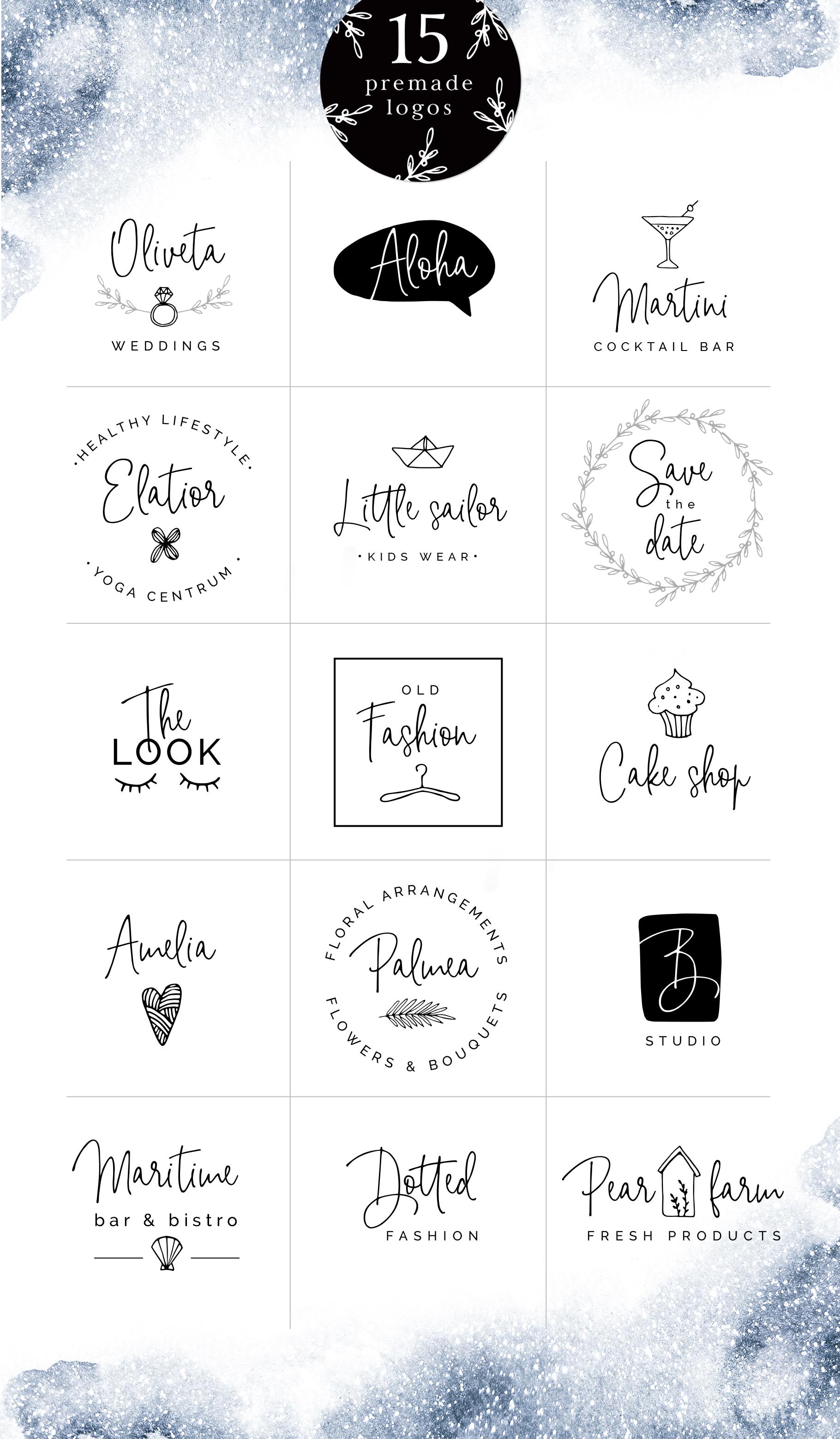 Bright side signature script font+ logos example image 3