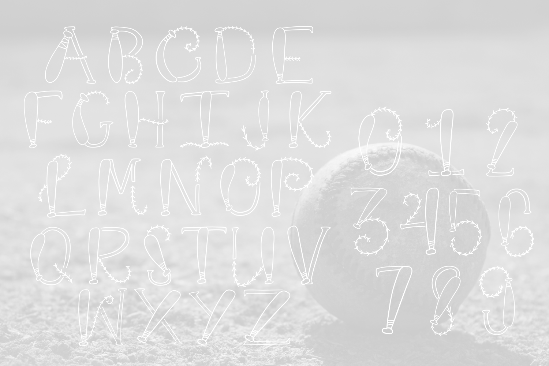 Baseball Monogram Font example image 3