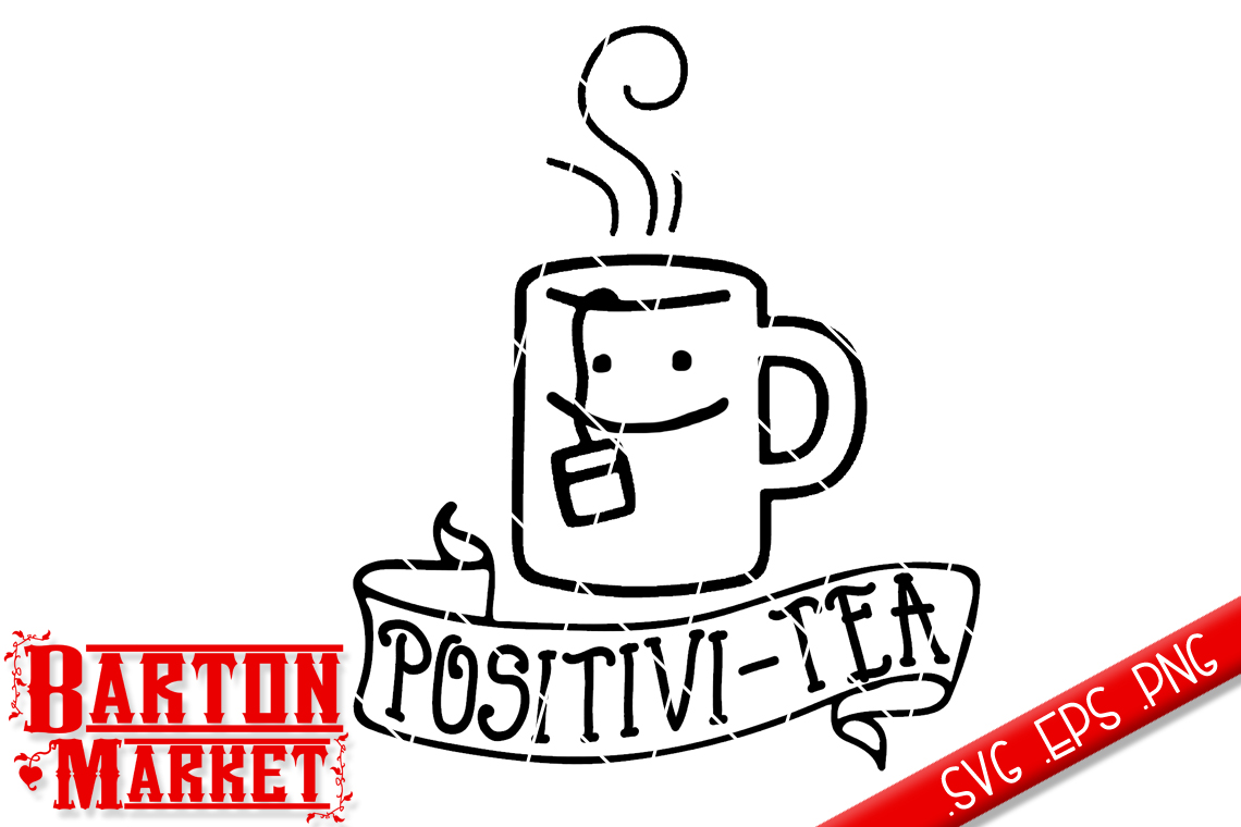 Positivi-Tea SVG / EPS / PNG example image 3