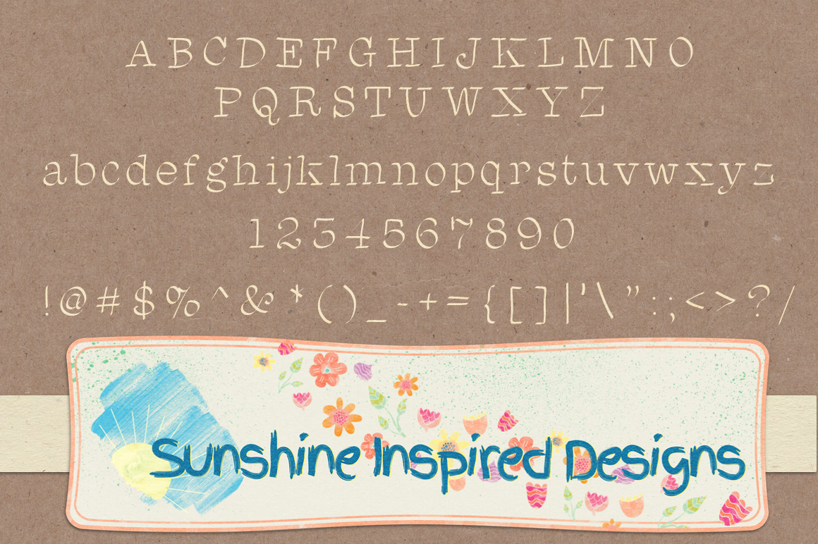 Font No.1, No.2 and No.3 example image 3