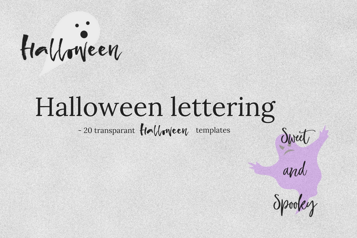 20 Halloween lettering collection example image 4